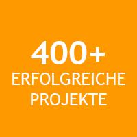 Über 400 erfolgreiche Projekte